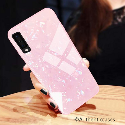 Marble Pattern Design Tempered Glass Case for Galaxy A50