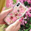 Original Flash Foil Petals Flower Phone Case for iPhone X