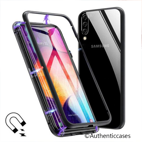 Electronic Auto-Fit Magnetic Glass Case for Galaxy A50