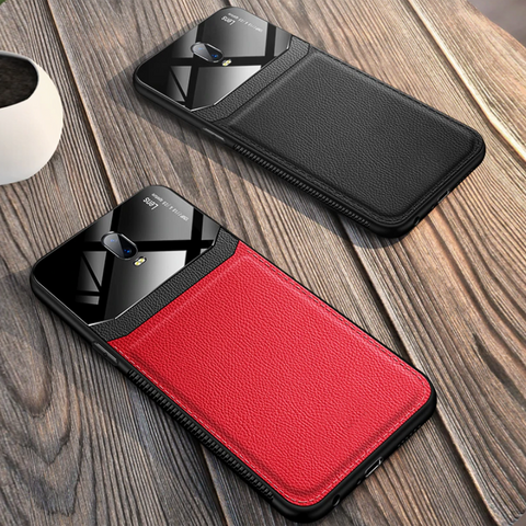 Luxury Leather Lens Card Holder Case For OnePlus 6T