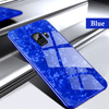 Marble Pattern Tempered Glass Case for Galaxy A8 Plus