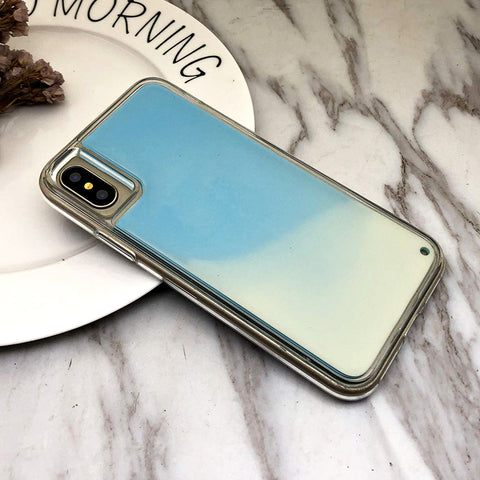 Neon Sand Liquid Glow Case for iPhone X / XR / XS Max