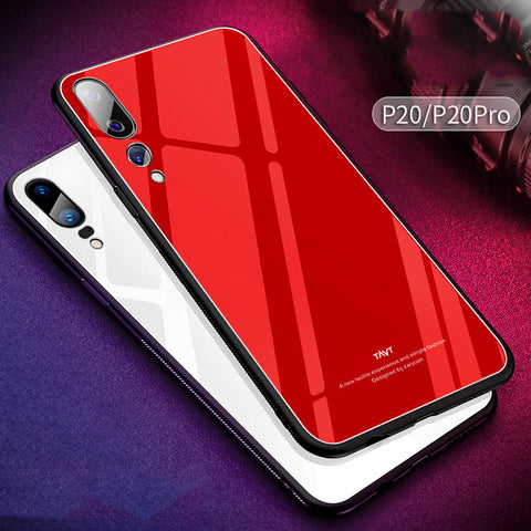 9H Luxury Tempered Glass Back Case for Huawei P20 Pro
