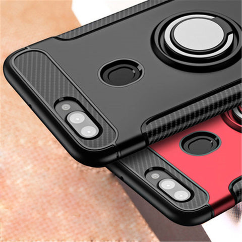 Luxury Armor Car Holder Magnetic Case for Oppo F9 Pro