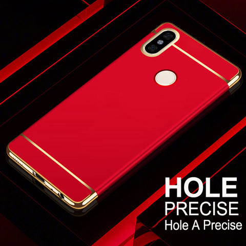 Luxury Electroplating 3 in 1 Case for Redmi Note 5 Pro