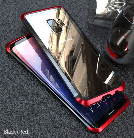 Luxury Aluminum Tempered Glass Case for Galaxy S9/ S9 Plus