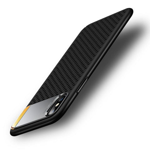 Honeycomb Hollow Heat Dissipation Phone Case for iPhone X