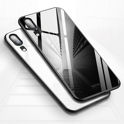 9H Luxury Tempered Glass Back Case for Huawei P20 Lite