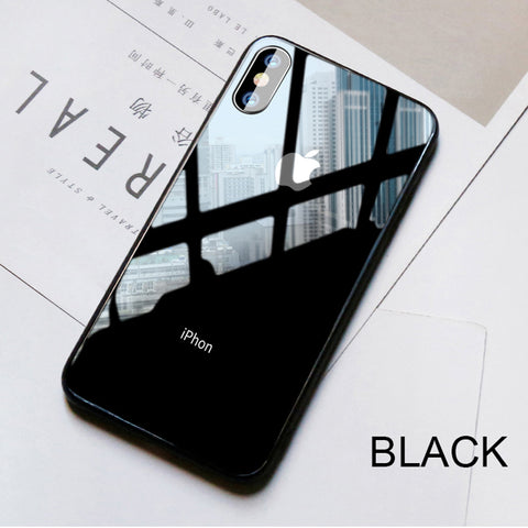 uk availability 524bc 3c90b Luxury 9H Tempered Glass Apple Logo Case for iPhone X – Authentic ...