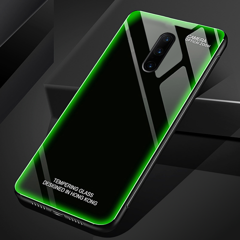 Aurora Tempered Glass Neon Glowing Case for OnePlus 7 / 7 Pro