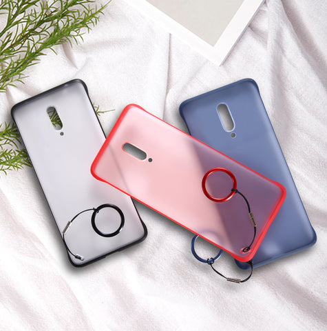 Luxury Frameless Semi Transparent Ring Finger Case for OnePlus 7 / 7 Pro