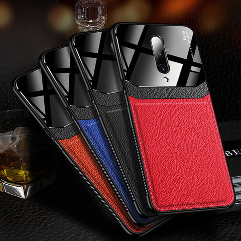 Luxury Leather Lens Card Holder Case For OnePlus 7 /7 Pro