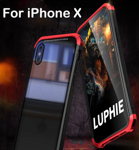 Aluminium Transparent Gorilla Glass Case for iPhone X
