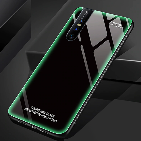 Aurora Tempered Glass Neon Glowing Case For VIVO V15 Pro
