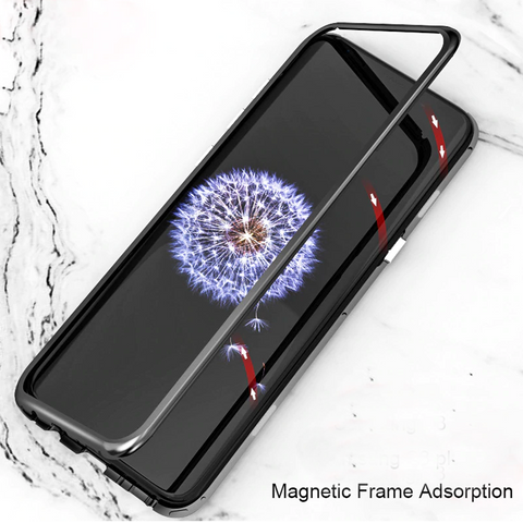 Tempered Glass Magnetic Adsorption Case for Galaxy S8/ S8 Plus