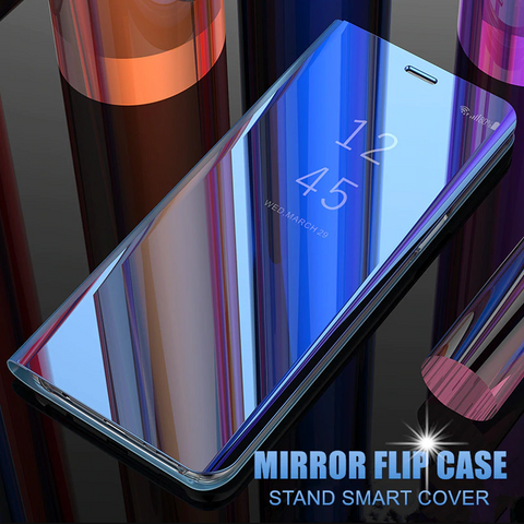 Clear View Smart Mirror Flip Case for Galaxy S9/ S9 Plus [Non-Sensor]