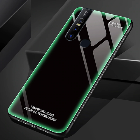 Aurora Tempered Glass Neon Glowing Case For VIVO V15