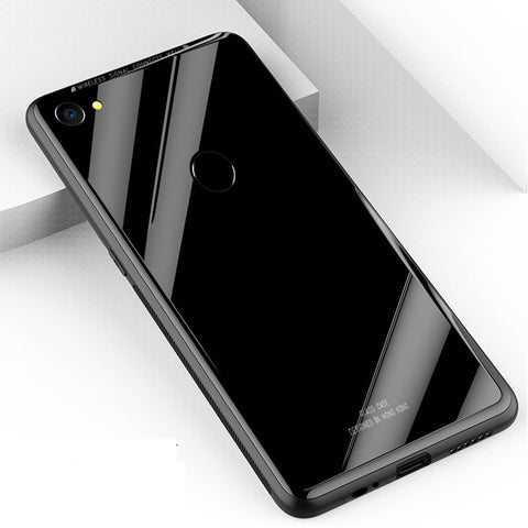 Luxury 9H Tempered Glass Back Case for OPPO F7