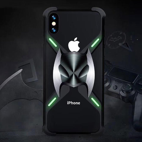 2nd Generation Batman Metal Bumper Shockproof Case for iPhone X Series