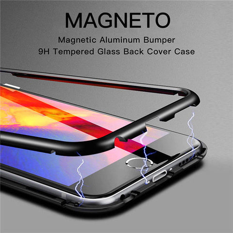 Tempered Glass Magnetic Adsorption Case for Apple iPhone 6 / 6S