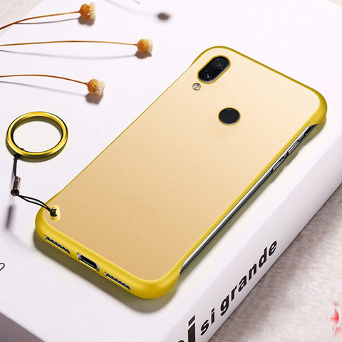 Luxury Frameless Semi Transparent Ring Finger Case for REDMI NOTE 7 / 7 Pro