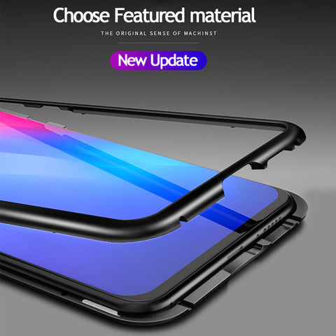 9H Tempered Glass Magnetic Adsorption Case for Vivo V11
