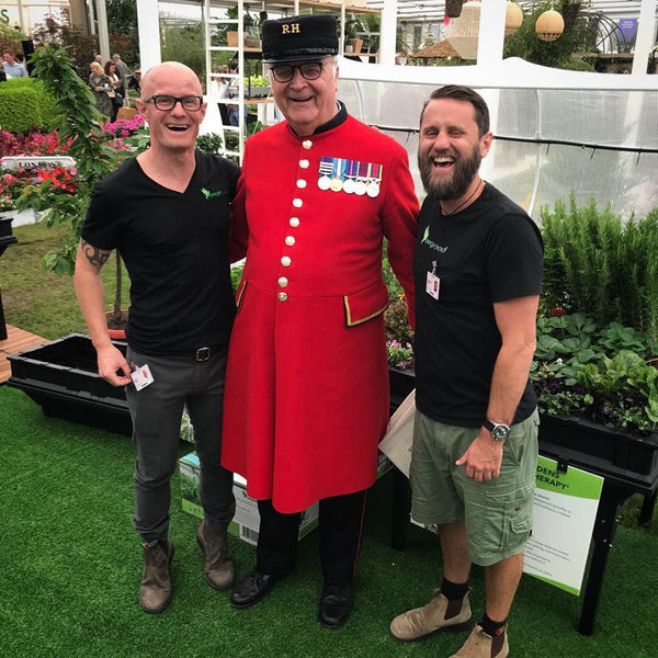 Vegepod staff at the Chelsea Flower Show