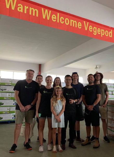vegepod team outside factory