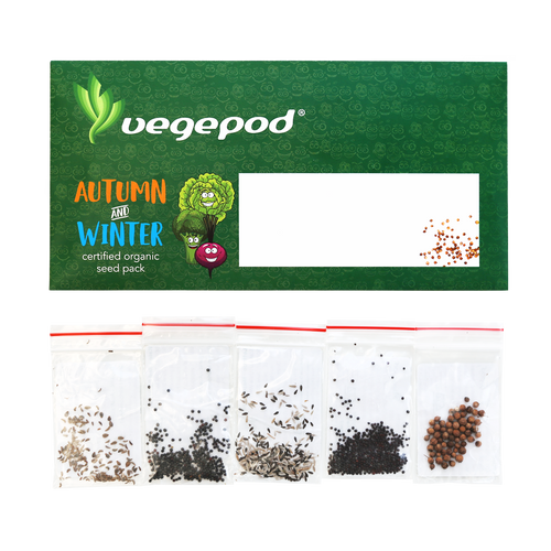 Autumn / Winter Certified Organic Seed Pack - Free Shipping