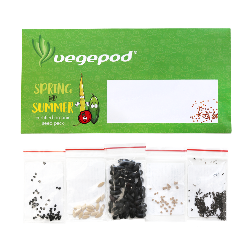 Spring / Summer Certified Organic Seed Pack