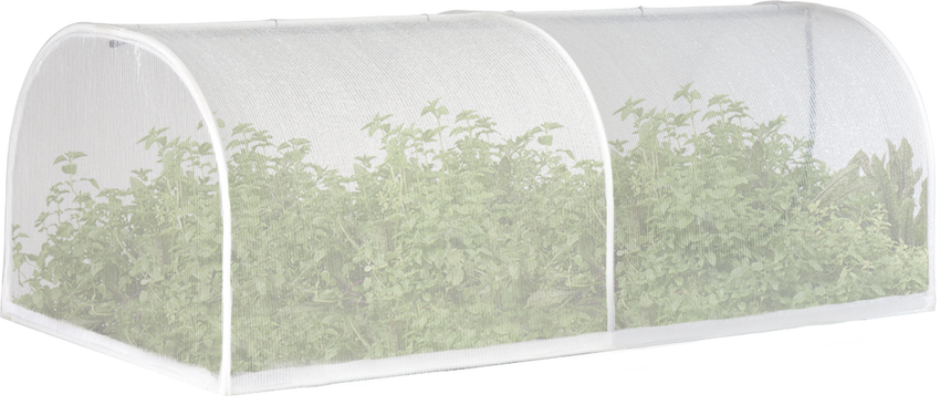 Replacement VegeCover Kit – Large (includes poles, connectors, hinge clips, misters and mesh cover)