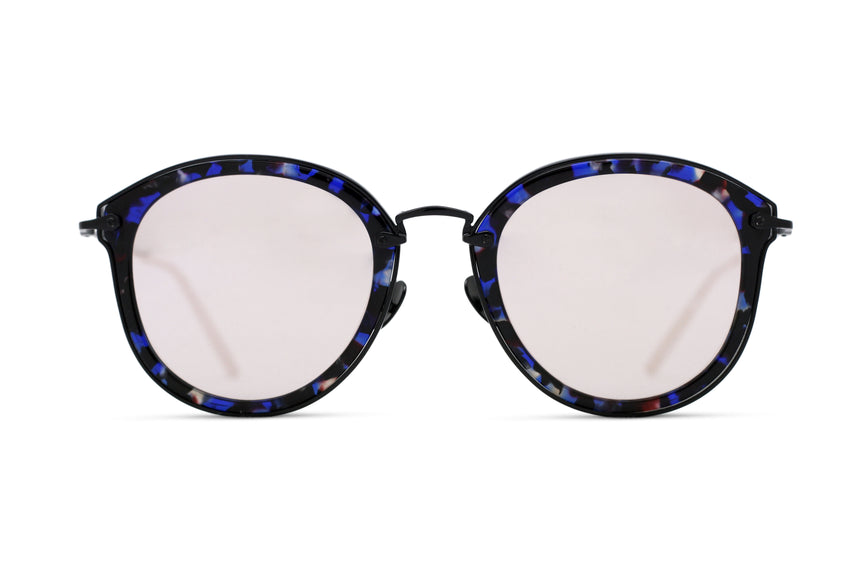 JAMES - BLUE TORT/ BLACK - LT. PURPLE MIRROR