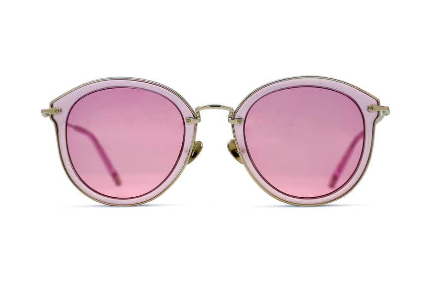 JAMES - CRYSTAL PURPLE/ SILVER - PURPLE TINTED LENS