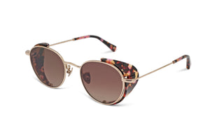 THE JOYCE - ROSE GOLD/ PINK TORT - SOLID BROWN
