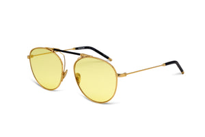SANCE - YELLOW GOLD/ NAVY LEATHER - YELLOW TINTED