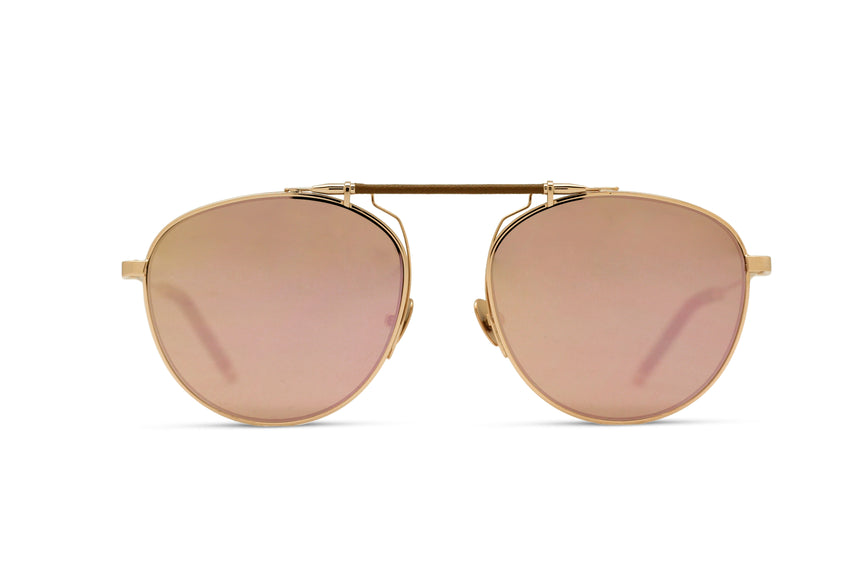 SANCE - ROSE GOLD/ NUDE LEATHER - ROSE GOLD MIRROR