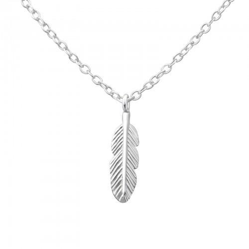 Kaulakoru - Feather - 4 mm x 13 mm - Sterling Hopea 925 - N/A - Samaskoru.fi