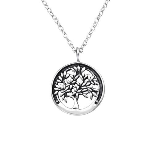 Kaulakoru - Tree Of Life - 13 mm x 13 mm - Sterling Hopea 925 - N/A - Samaskoru.fi