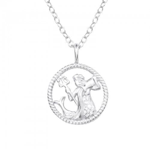 Kaulakoru - Aquarius Zodiac Sign - 12 mm x 12 mm - Sterling Hopea 925 - N/A - Samaskoru.fi