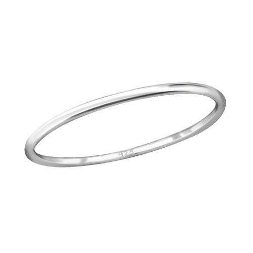 Sormus - Band - 1 mm x 1 mm - Sterling Hopea 925 - 7 - Samaskoru.fi