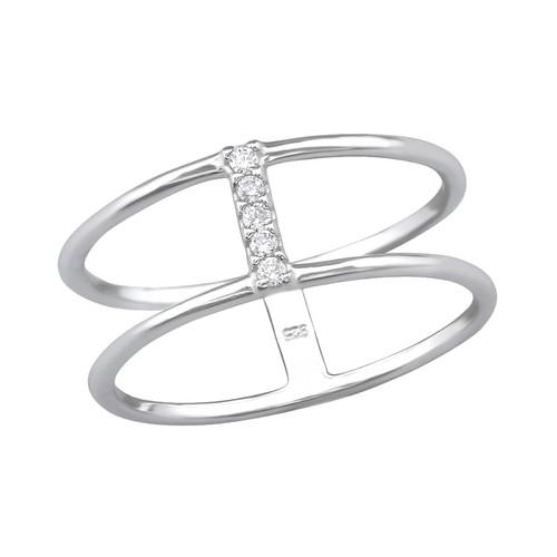 Sormus - Double Line - 1.2 mm x 8 mm - Sterling Hopea 925 - 7 - Samaskoru.fi