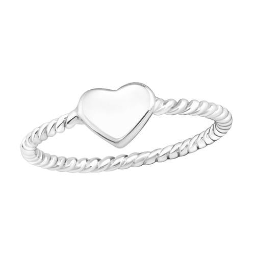 Sormus - Heart - 7 mm x 5 mm - Sterling Hopea 925 - 6 - Samaskoru.fi