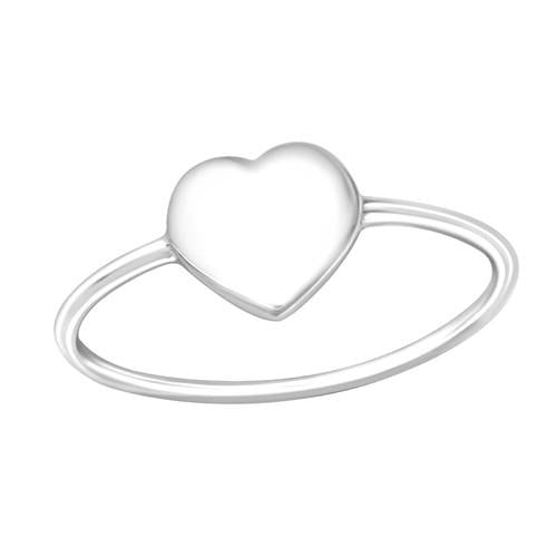Sormus - Heart - 8 mm x 8 mm - Sterling Hopea 925 - 7 - Samaskoru.fi