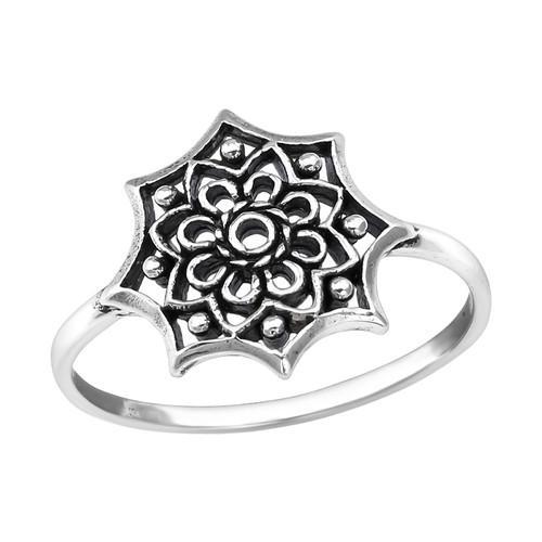 Sormus - Flower - 13 mm x 13 mm - Sterling Hopea 925 - 5 - Samaskoru.fi