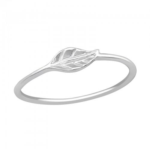 Sormus - Leaf - 8 mm x 4 mm - Sterling Hopea 925 - 3.5 - Samaskoru.fi