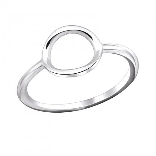 Sormus - Oval - 10 mm x 9 mm - Sterling Hopea 925 - 5 - Samaskoru.fi