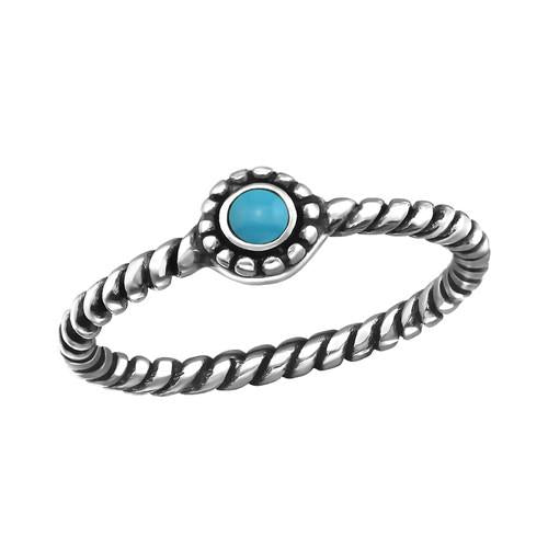 Sormus - Oxidized - 4 mm x 4 mm - Sterling Hopea 925 - 8 - Samaskoru.fi