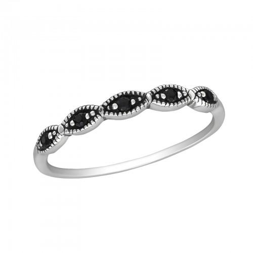 Sormus - Stackable - 1.7 mm x 2. mm - Sterling Hopea 925 - 6 - Samaskoru.fi