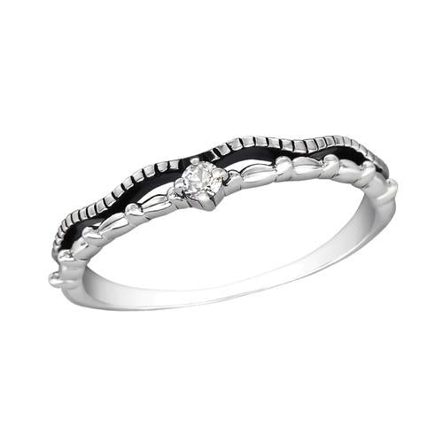 Sormus - Stackable - 2. mm x 3 mm - Sterling Hopea 925 - 5 - Samaskoru.fi