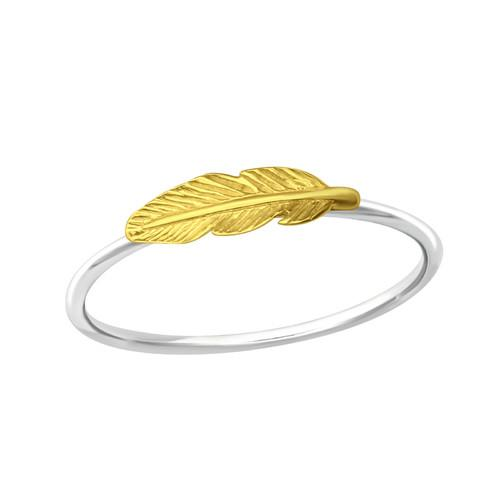 Sormus - Feather - 12 mm x 4 mm - Sterling Hopea 925 - 6 - Samaskoru.fi